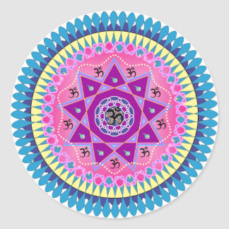 Mandala art round sticker