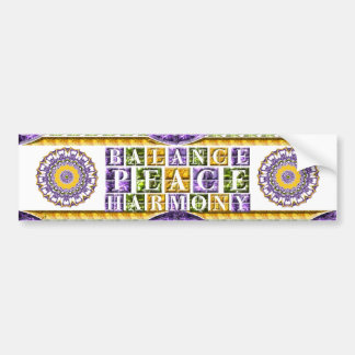 Mandala Balance, Peace, Harmony Bumpersticker Bumper Sticker