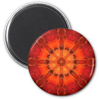 Mandala 'Bangalore' 6 Cm Round Magnet