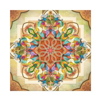 Mandala Birds Stretched Canvas Print