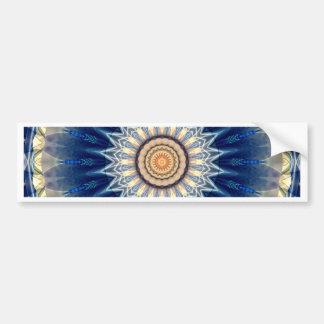 Mandala blue created by Tutti Bumper Sticker