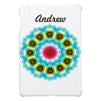 mandala blue flower iPad mini covers