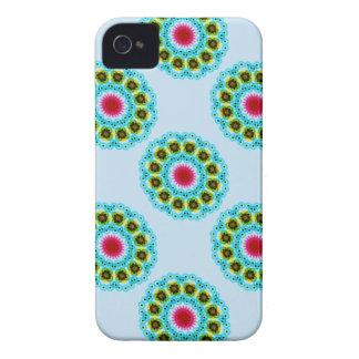 mandala blue flower iPhone 4 Case-Mate case