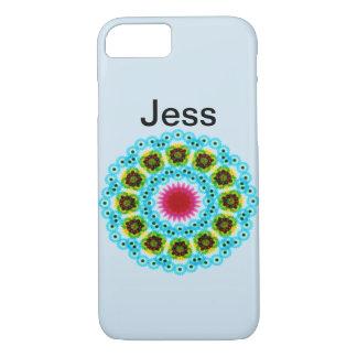 mandala blue flower iPhone 8/7 case