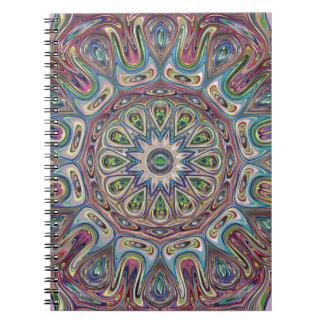 Mandala Blue Rose Notebook