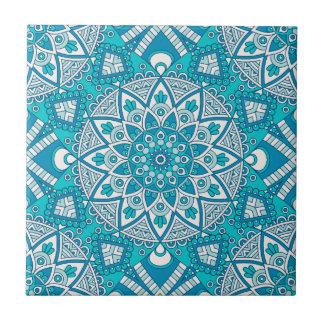 Mandala blue tile pattern