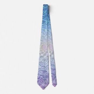 Mandala Blue Violet Reflection Tie