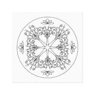 Mandala Canvas Print - The Trees Are Calling - W/B