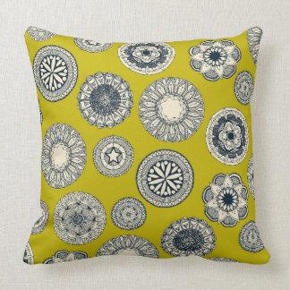 mandala cirque spot chartreuse cushion