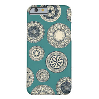 mandala cirque spot teal barely there iPhone 6 case