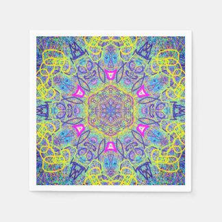 """Mandala """"Clown"""" Paper Napkins by MAR Disposable Serviette"""