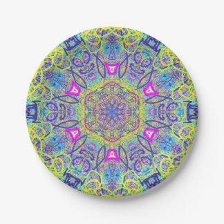 "Mandala ""Clowns"" Paper plate by MAR 7 Inch Paper Plate"
