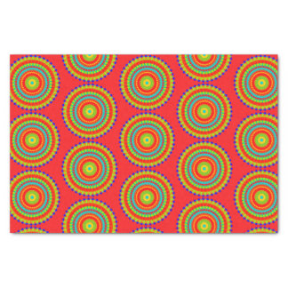 Mandala Colorful Pattern Red Tissue Paper