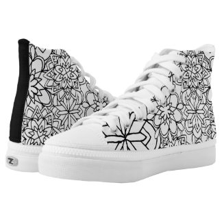 Mandala Coloring shoes Printed Shoes