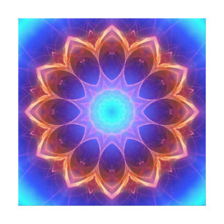 Mandala cool glowing gallery wrapped canvas