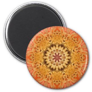 Mandala 'Dahlia' 6 Cm Round Magnet