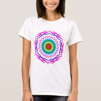 Mandala Damask Lotus Flower Art Elegant T-Shirt