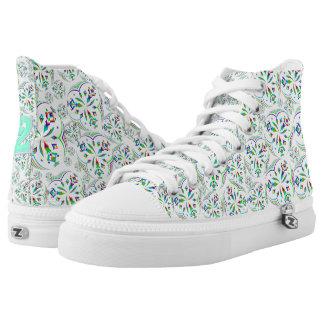 Mandala Design 02 - High Top Shoes