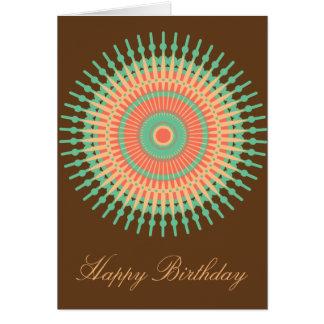 Mandala design birthday Indian Card