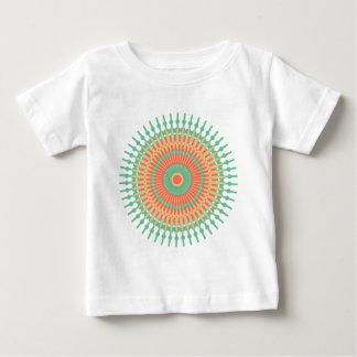 Mandala design green, orange Indian Baby T-Shirt