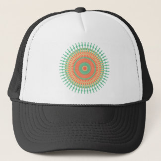 Mandala design green, orange Indian Trucker Hat