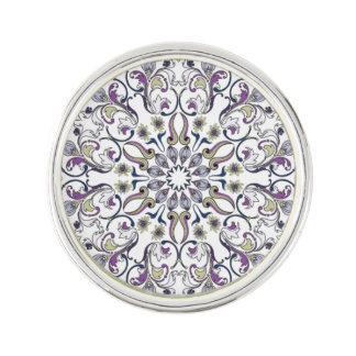 Mandala designed wearable art lapel pin