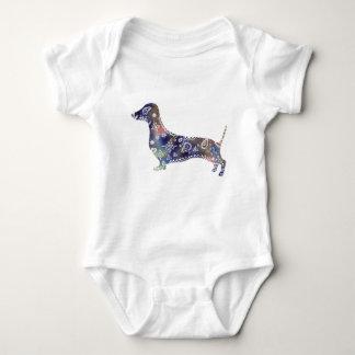 Mandala Dog Jersey Bodysuit, White Baby Bodysuit