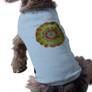 Mandala Doggie Ribbed Tank Top Sleeveless Dog Shirt