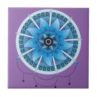 Mandala Dream Catcher 2 Ceramic Tile