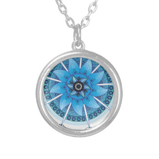 Mandala Dream Catcher 2 Silver Plated Necklace