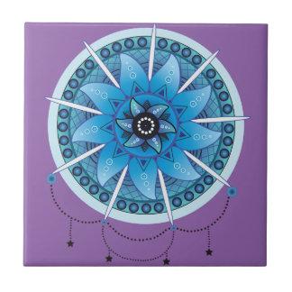 Mandala Dream Catcher 2 Small Square Tile