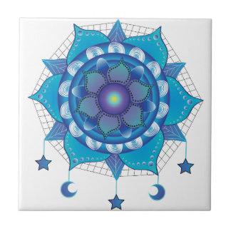 Mandala Dream Catcher Small Square Tile