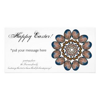 Mandala Easter Eggs Photo Greeting Card