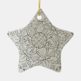 mandala elements ceramic star decoration