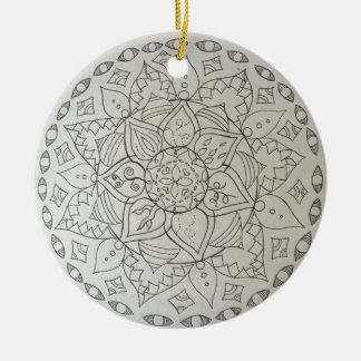 mandala elements round ceramic decoration