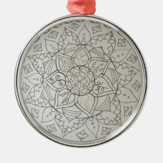 mandala elements Silver-Colored round decoration