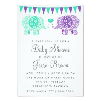 Mandala Elephant Baby Shower Invitation