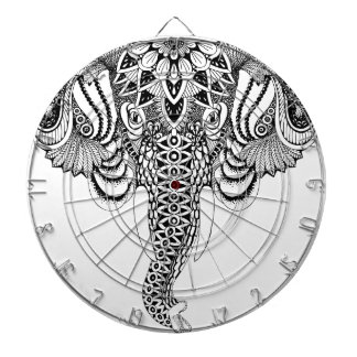 Mandala Elephant illustration, drawing. Tattoo sty Dartboard