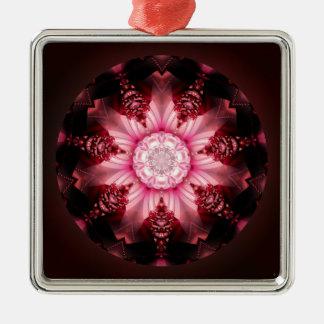 Mandala femaleness no. 2 Silver-Colored square decoration