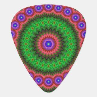 Mandala flower bouquet guitar pick