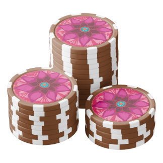 Mandala Flower Clay Poker Chips