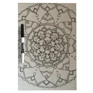 mandala flower Dry-Erase whiteboard