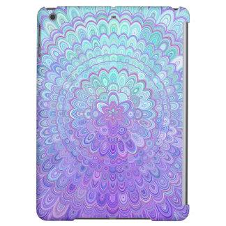 Mandala Flower in Light Blue and Purple