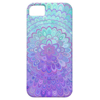 Mandala Flower in Light Blue and Purple Barely There iPhone 5 Case