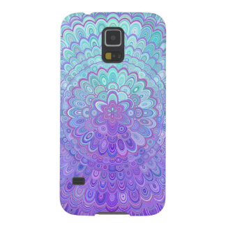 Mandala Flower in Light Blue and Purple Galaxy S5 Case