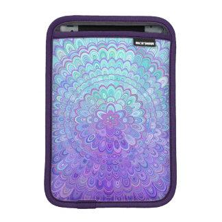 Mandala Flower in Light Blue and Purple iPad Mini Sleeve