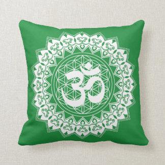 Mandala Flower of Life OM  Pillow