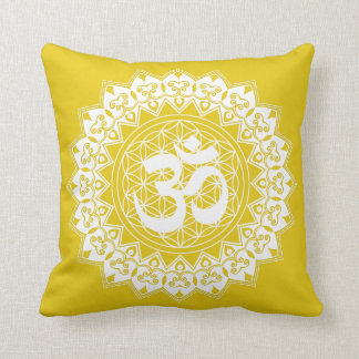 Mandala Flower of Life OM  Pillow