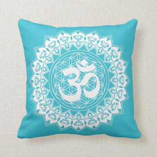 Mandala Flower of Life OM Square Pillow