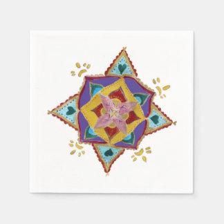 Mandala Flower Paper Napkins Disposable Napkin